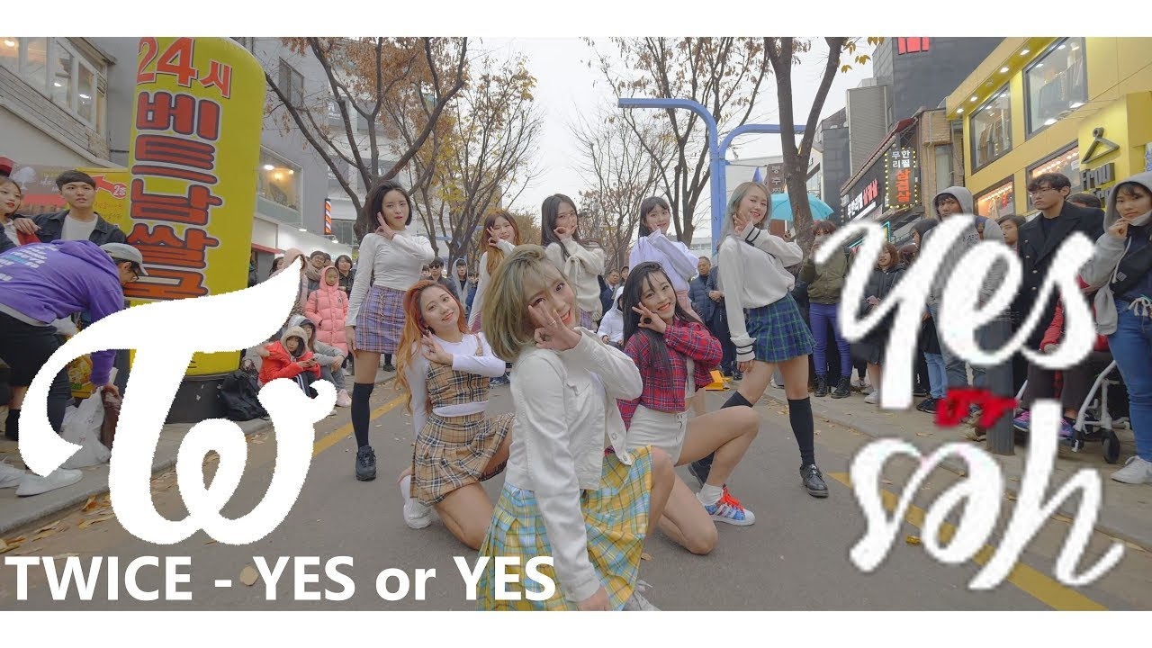 [KPOP IN PUBLIC] IN 홍대, TWICE(트와이스) - YES or YES Full Dance Cover 커버댄스 4K