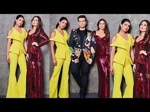 Woah ! Kareena Kapoor and Priyanka Chopra look stunning together for Karan Johar's show thumbnail