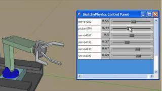 Sketchup 8 e Sketchyphysics - braço robótico (2) - em português BR
