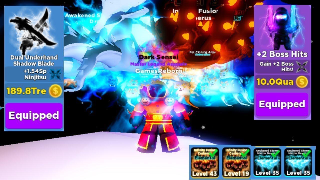Roblox Ninja Legends New Update Christmas Update Got Best Sword Elemental Pet Team Ninja