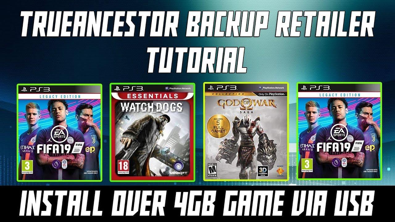 How to Install PS3 Game Over 4GB PKG Via USB - TrueAncestor