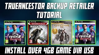 Install PKG files Over 4GB on PS3 Via USB - TrueAncestor Tutorial