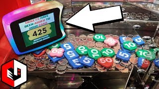 Winning Double Jackpots at Ticket Circus Coin Pusher!