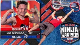 Ashton Myler's Reaction to American Ninja Warrior Jr!