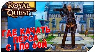 Royal Quest 💲 Где качать перса с 1 по 60й (полный ГАЙД)