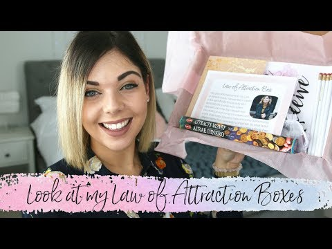 LOOK AT MY LAW OF ATTRACTION BOXES | Emma Mumford