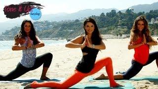 Beach Barre Workout With Renée Herlocker | Tone It Up Tuesdays