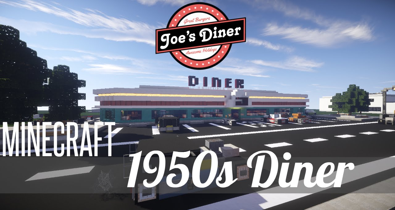 Minecraft: Let's Build - 1950's Diner - Part 1