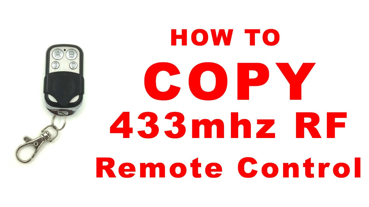 how to copy 433mhz rf remote control doovi. Black Bedroom Furniture Sets. Home Design Ideas