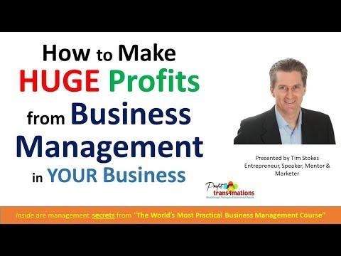 Business Management Training | Business Courses Online | Increase Net Profit Margins | Entrepreneurs