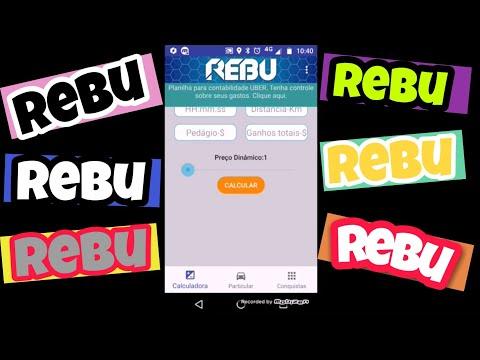 Como usar o aplicativo REBU, para  calcular viagem na Uber