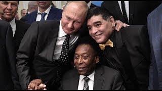 Путин выпил с Марадоной и Пеле после жеребьевки ЧМ-2018