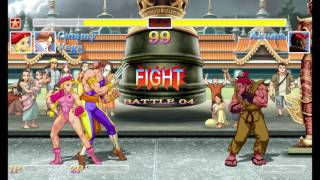 Ultra Street Fighter II co op battles complete playthrough (Classic and New Style sounds)
