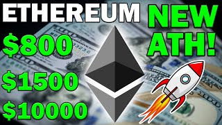 IMPORTANT NEWS! ETHEREUM TO SMASH $800! ETH TO $10000?
