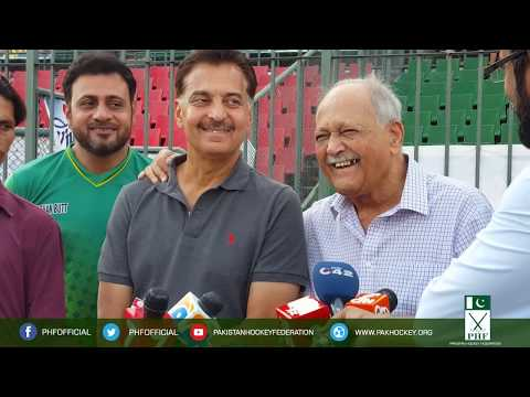 Hassan Sardar head coach of Pakistan hockey team and Khwaja Zakauddin Media Talk