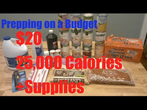 Food Prepping: Week One Prepping on a budget. How to start prepping on a budget.