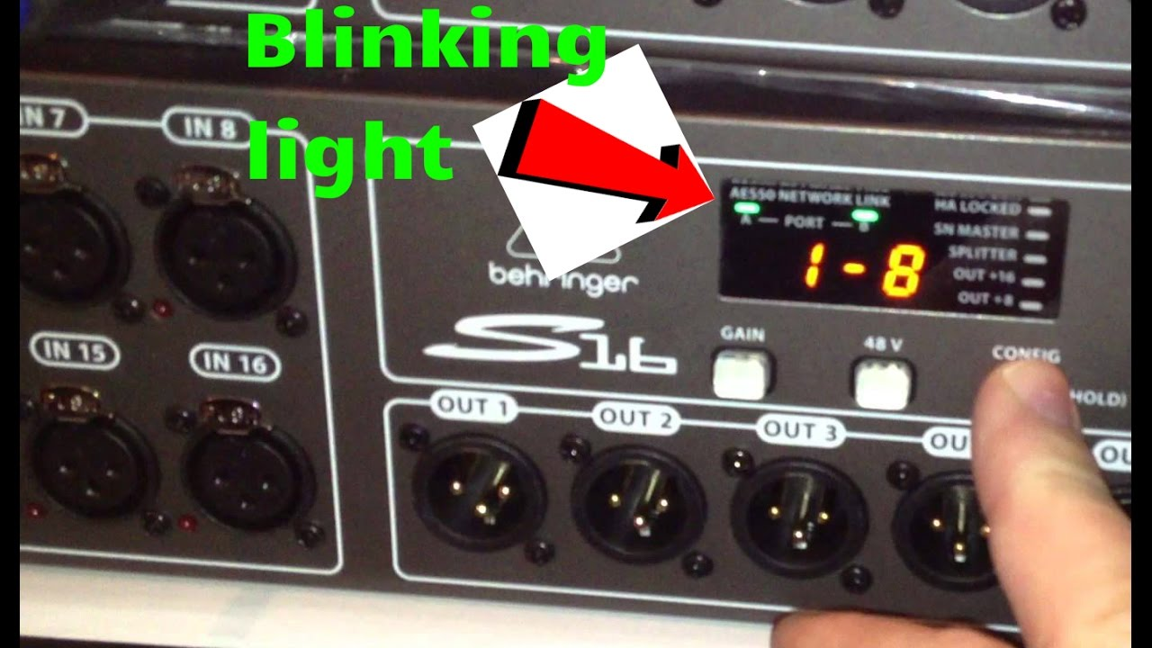 Trouble shooting Error syncing behringer x32 to s16 solved