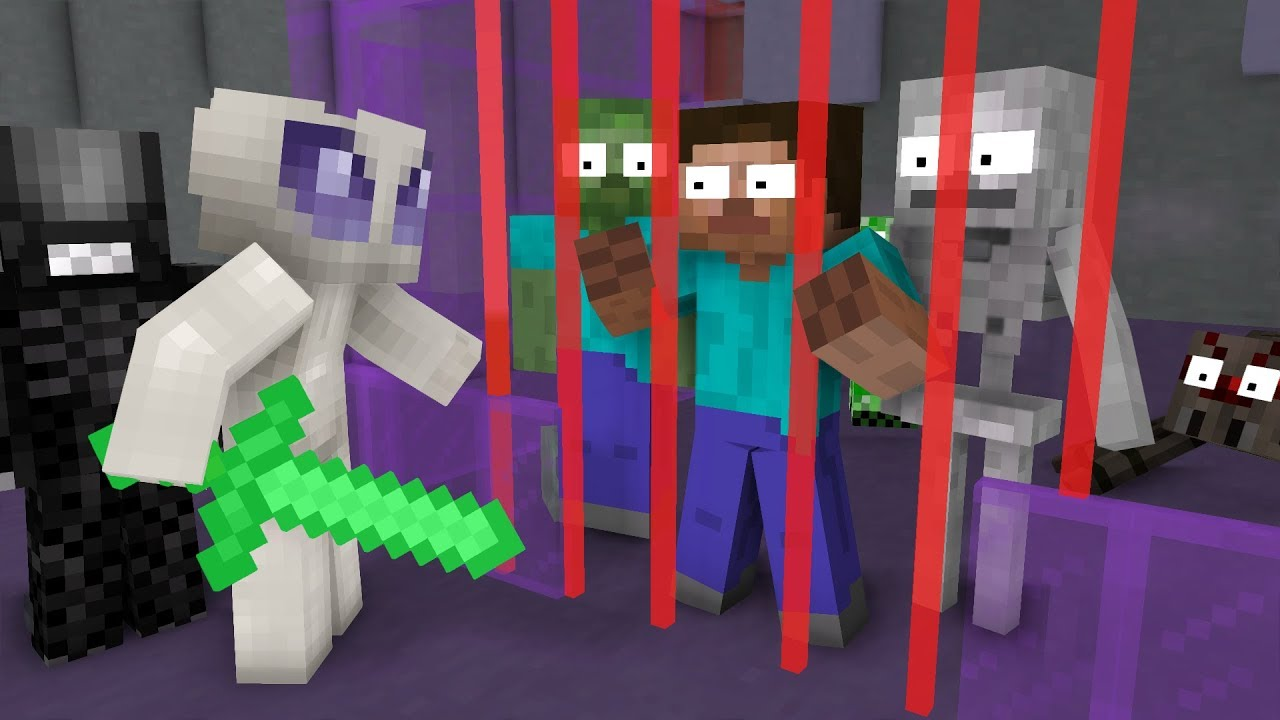 Monster School: ALIENS VS MONSTERS | Alien Invasion - Minecraft Animation