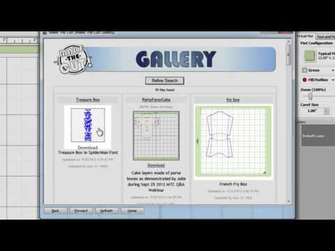 Make-the-Cut Tutorial: Gallery Importing