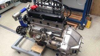 УАЗ двигатель УМЗ 451-Turbo, многоточечный впрыск топлива; UAZ old Russian engine supercharged