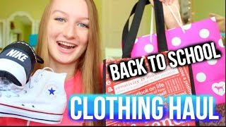 Back to School TRY ON Clothing Haul 2015 | PINK, lululemon, hollister, nike
