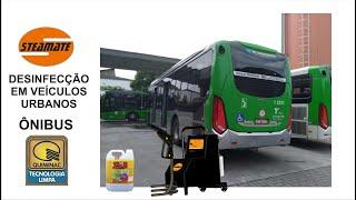 Desinfecção em ônibus de transporte urbano. Eficiência garantida contra COVID-19 (Corona vírus)