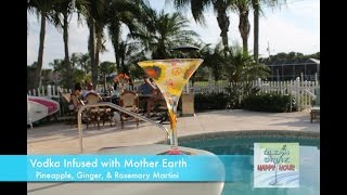 Vodka Infused With Mother Earth: Pineapple, Ginger, Rosemary Martini | Clean Drink Happy Hour