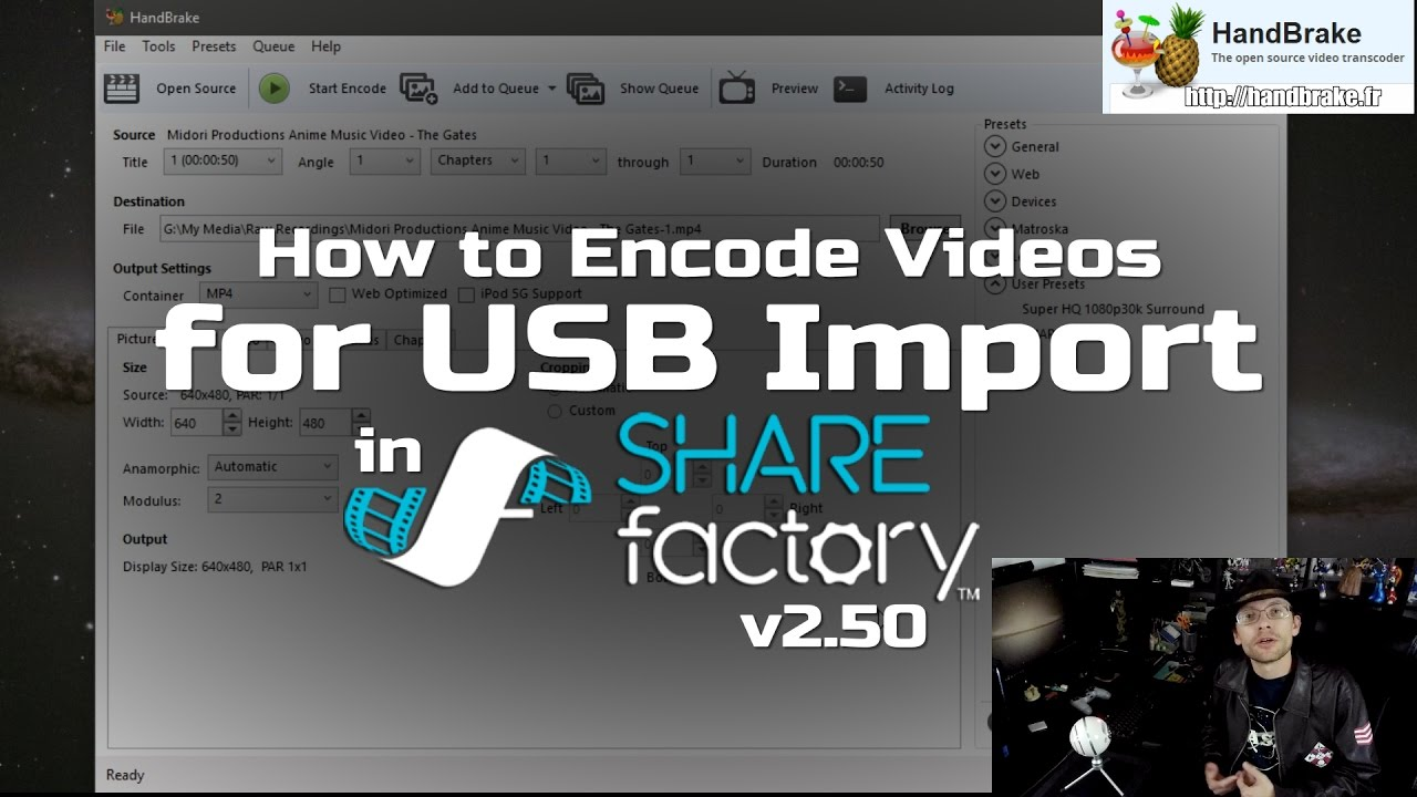 Video - How to encode videos for USB Import into