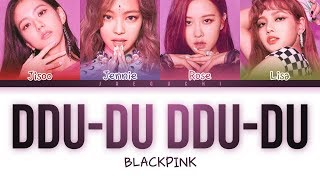 Blackpink 'ddu-du Ddu-du 뚜두뚜두' Lyrics Color Coded Engromhan