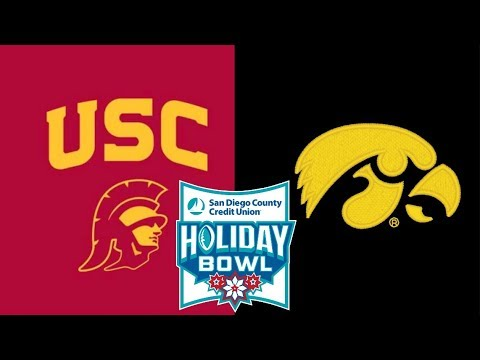 IOWA FOOTBALL VS. USC TROJANS HOLIDAY BOWL FIRST HALF ...