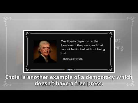 The importance of freedom of the press to liberty