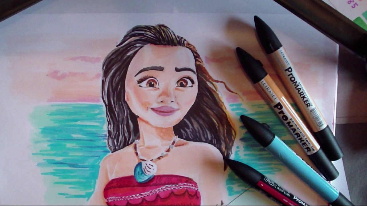 Comment Dessiner Vaiana Tutoriel How To Draw Moana Youtube