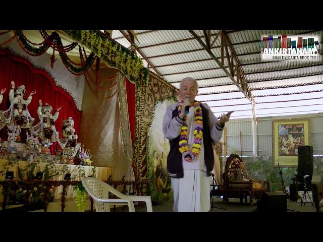 Е.М. Чайтанья Чандра Чаран прабху на Фестивале Санкиртаны. Садху Санга 2019