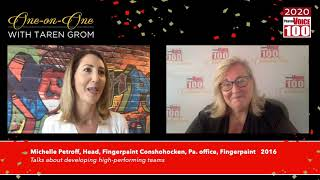Michelle Petroff, Fingerpaint – 2020 PharmaVOICE 100 Celebration
