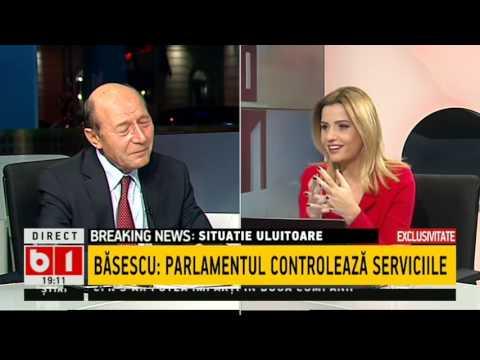 Traian Băsescu  : SRI solicita anual circa 2 500 de interceptări pe siguranț