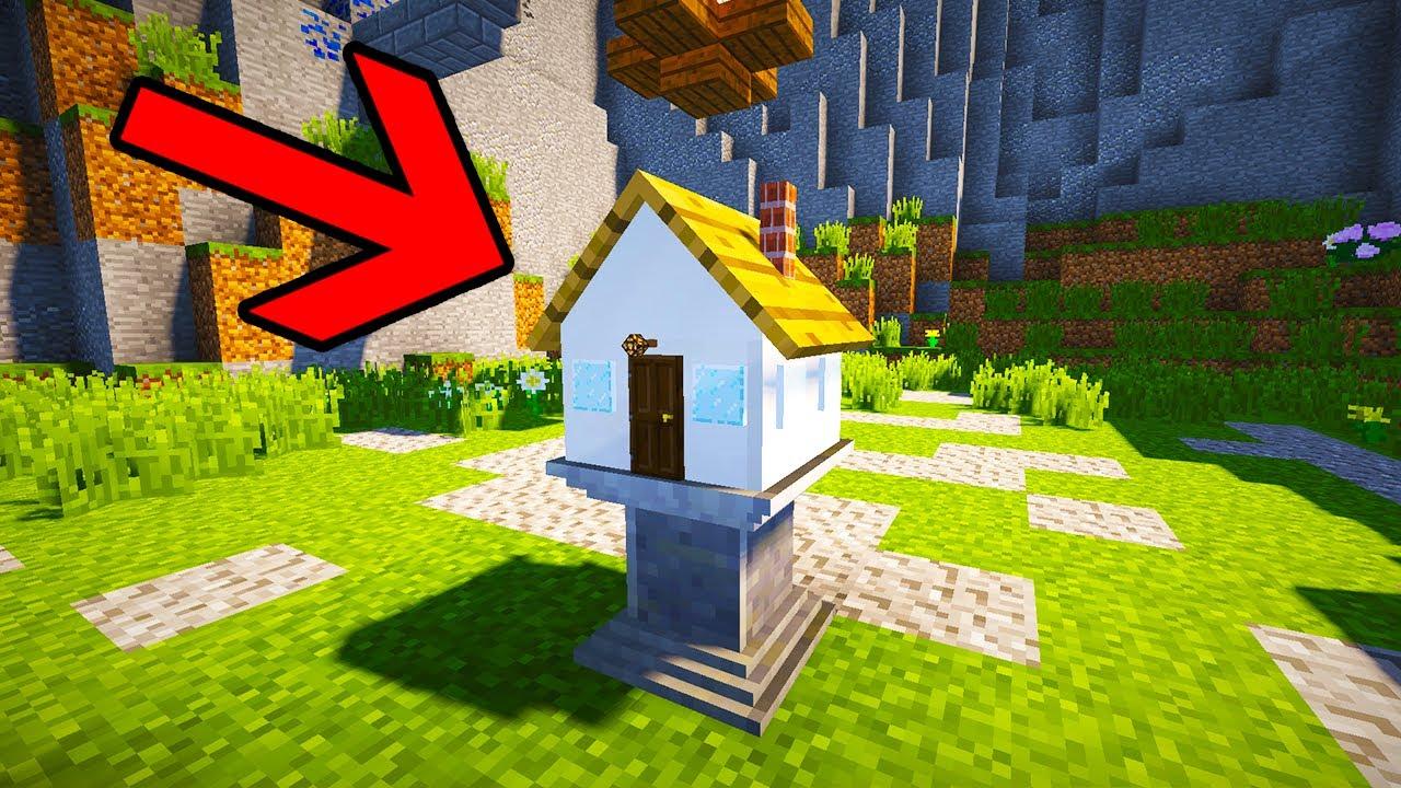 το πιο μικρο σπιτι στο Minecraft 1x1x1 Command Block
