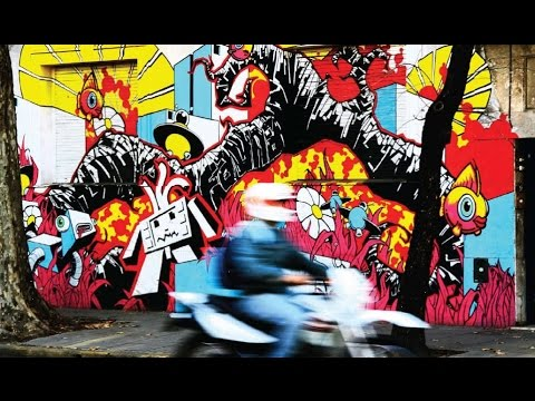 Buenos Aires street art tour video Al Jazeera travel