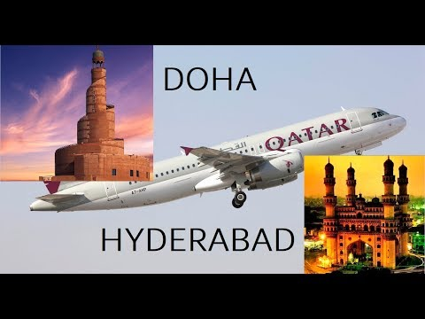 DOHA to HYDERABAD -  QATAR AIRWAYS QR500 (new flight route after Qatar blockade)