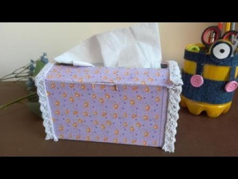 How to make an Origami Tissue Box | DIY paper crafts | Easy Origami step by step Tutorial