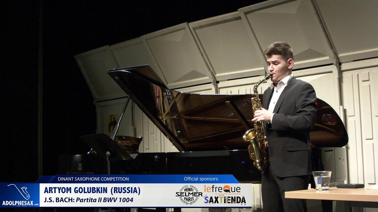 Artyom Golubkim (Russia) - Partita II by J.S.Bach (Dinant 2019)