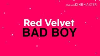 레드벨벳(Red Velvet) - Bad Boy / 키네틱 타이포그래피•Lyrics Video