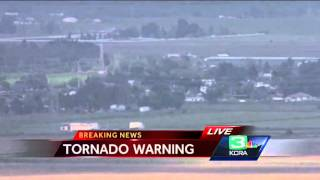 Large funnel cloud sweeps through Placer County
