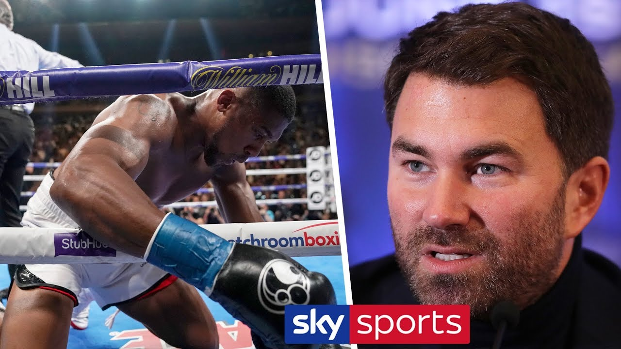 Eddie Hearn dismisses the rumour that Anthony Joshua had a panic attack after being KO'd in spa