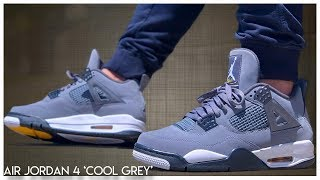 Air Jordan 4 'Cool Grey' 2019 - YouTube