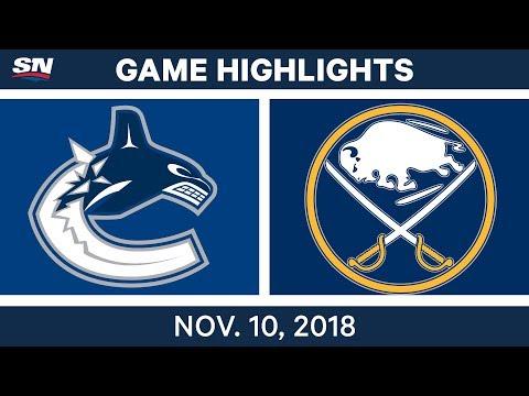 NHL Highlights | Canucks vs. Sabres – Nov. 10, 2018
