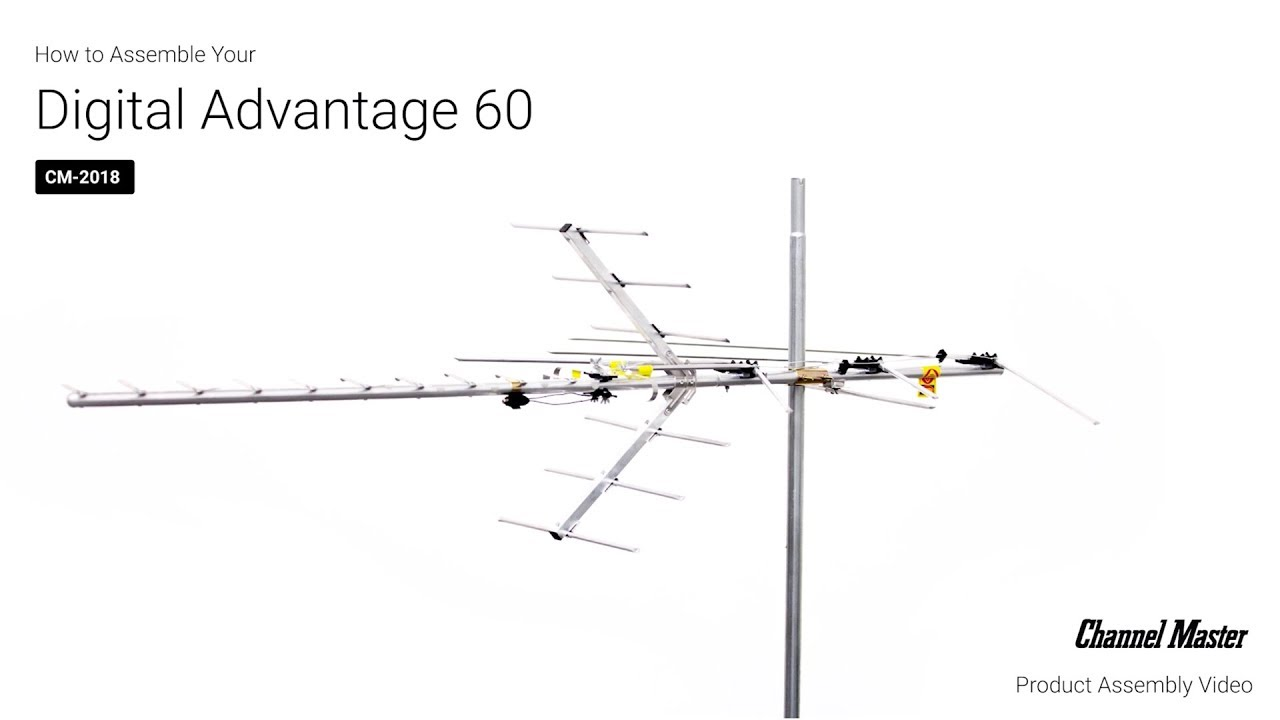 Channel Master | How to Assemble the Digital Advantage 60 Outdoor TV  Antenna [CM-2018]