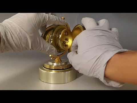 Vintage Reuge Music Box Wind Up Alarm Clock Globe Music Box