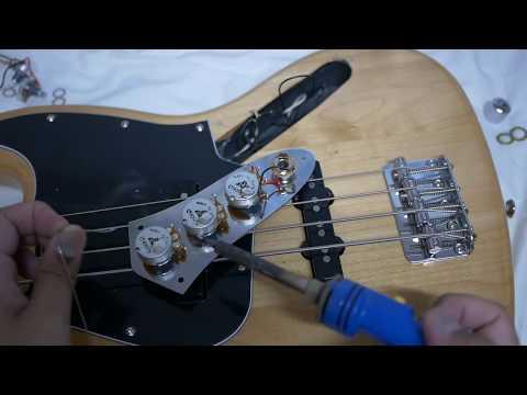 เปลี่ยน Pot Jazz Bass และเทคนิคการบัดกรีวงจรกีต้าร์