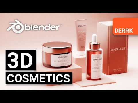 3D Cosmetics Mockup -- Full Process in Blender 2.8 #3d #blender3d #packaging