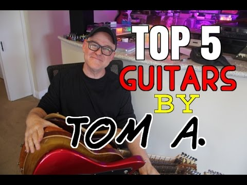Top 5 Guitars By Tom Anderson  | Tim Pierce | Anderson Guitars | Soundpure.com | Guitar Solo